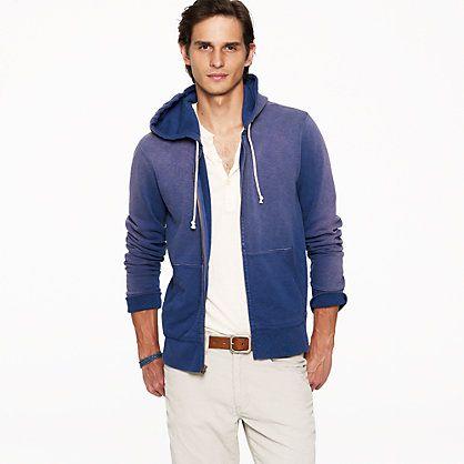 Sunwashed fleece zip hoodie...love the faded color!