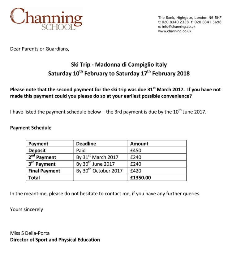 Payment Reminder Letter Format 16 Samples Examples With