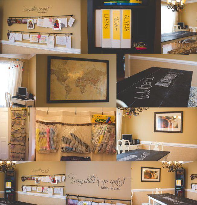Minimalist Homeschool Room: Our Homeschool Room :) Chalkboard Table And Art Display