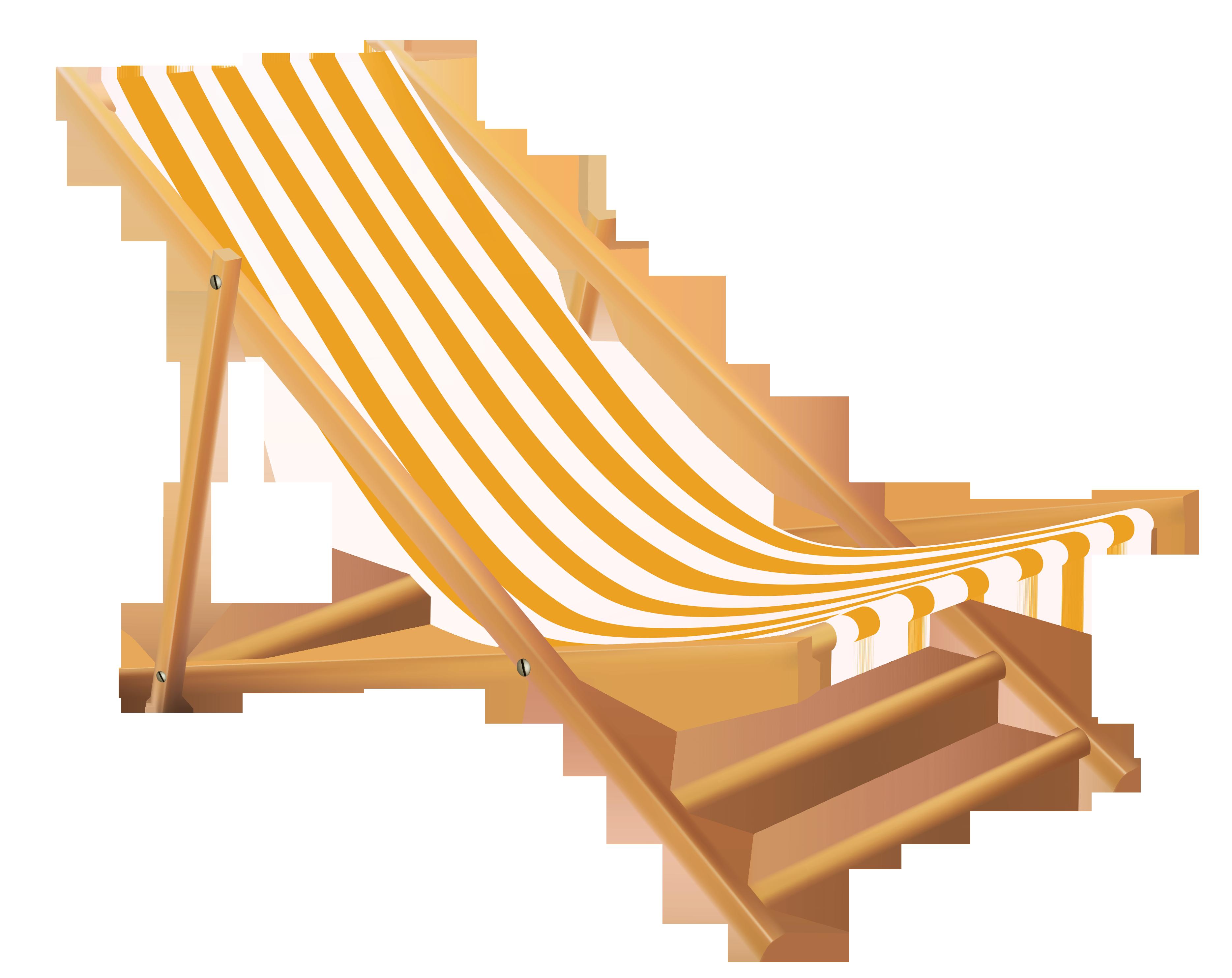 Transparent Beach Lounge Chair Clipart Stoelen Geel Strand