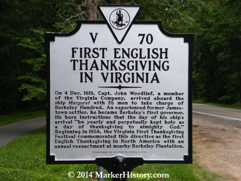 First English Thanksgiving in Virginia V70 Richmond