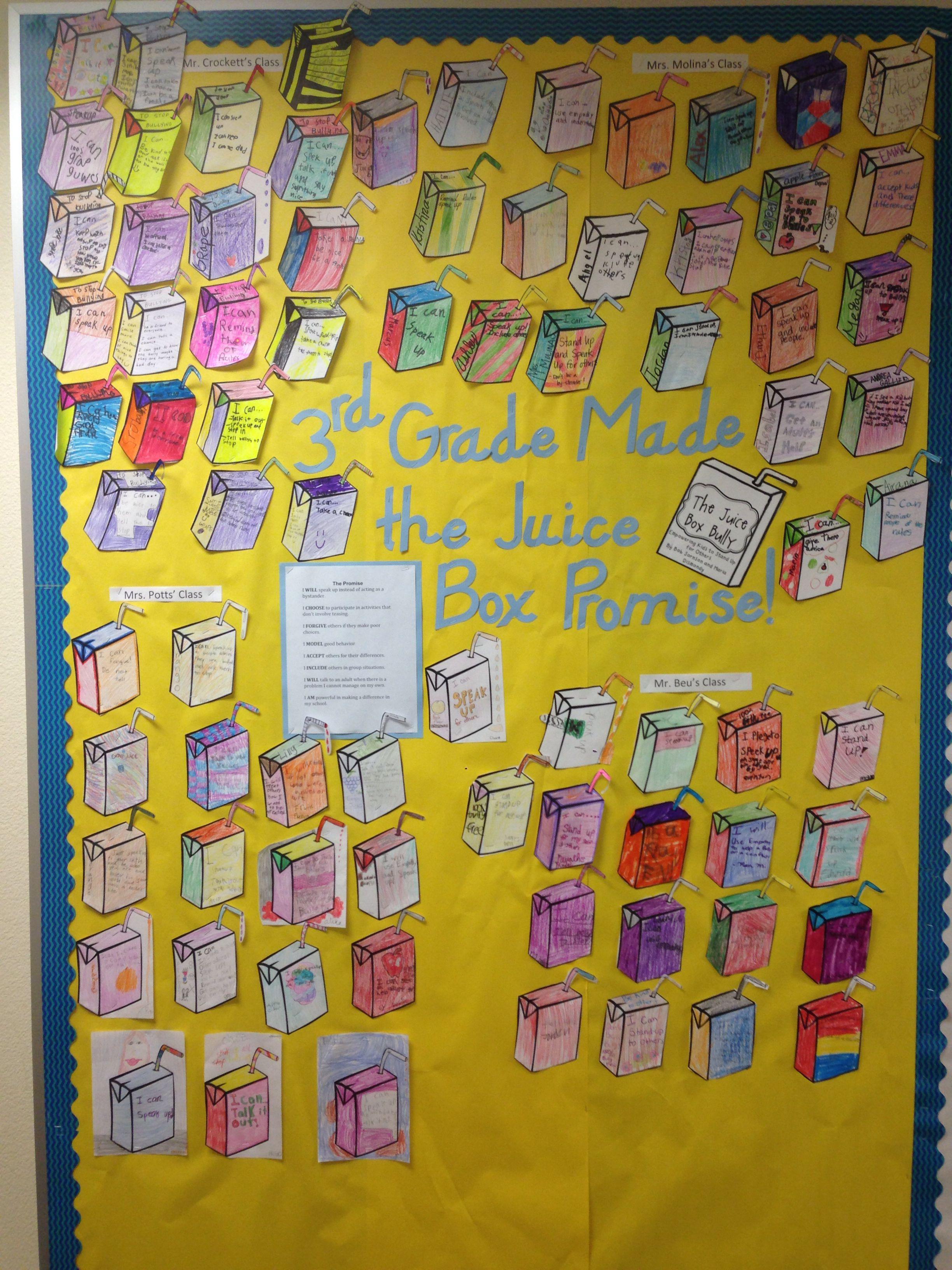 Juice Box Bully Bulletin Board Elementaryschoolcounseling