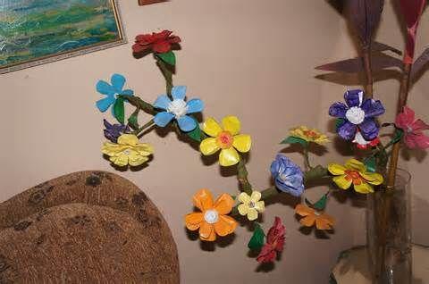 Flores Hechas Con Botellas Plasticas Transparentes Pintadas Pictures