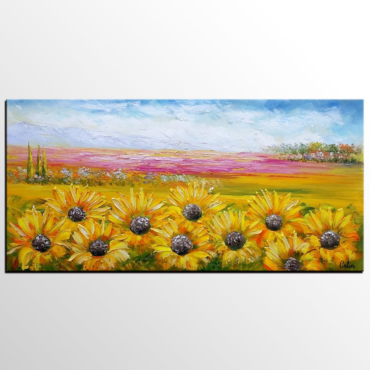 Canvas Oil Painting, Heavy Texture Art, Original Art, Large Art ...
