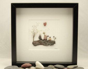 Guijarro arte familia  familia regalo personalizado por MedhaRode