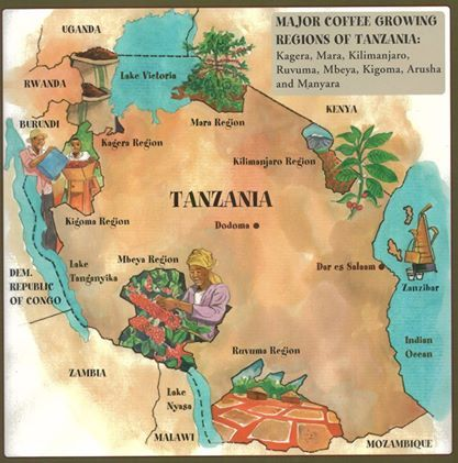 The Coffee Growing Regions of Tanzania