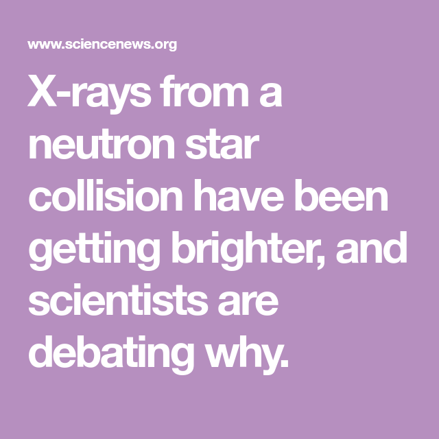 The Xray glow keeps growing after the recent neutron star