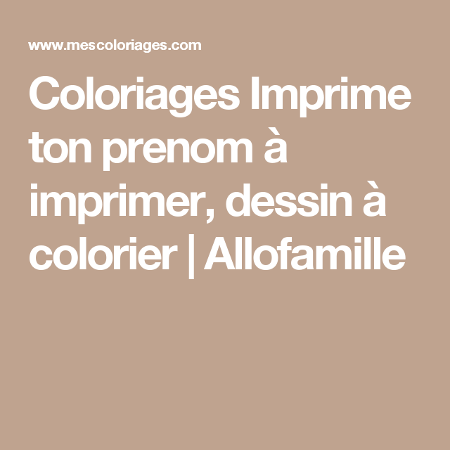 Coloriages imprime ton prenom imprimer dessin - Prenom a imprimer ...