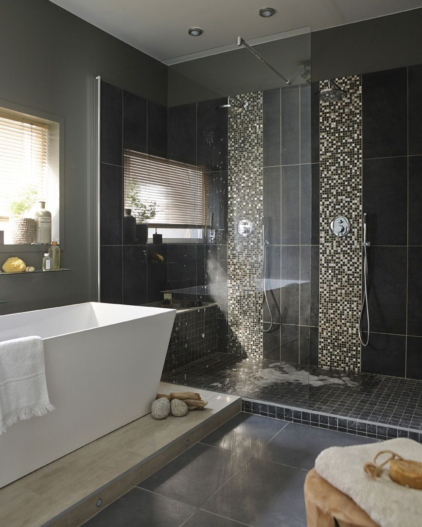 Le bien tre d 39 une douche l 39 italienne salle de bains for Salle bien etre