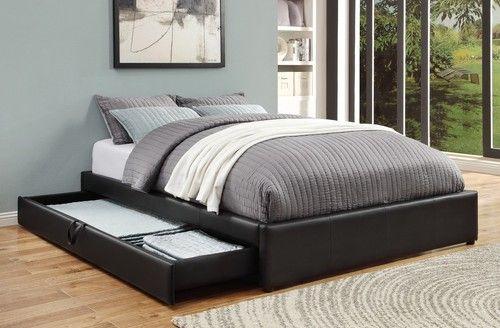 Hunter Queen Size Platform Bed with Storage 300386Q