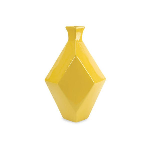 IMAX Home 30502 Chantal Large Yellow Ceramic Vase N/A Home Decor Vases ($55