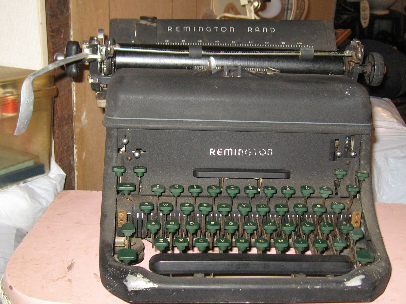 Antique Remington Rand typewriter