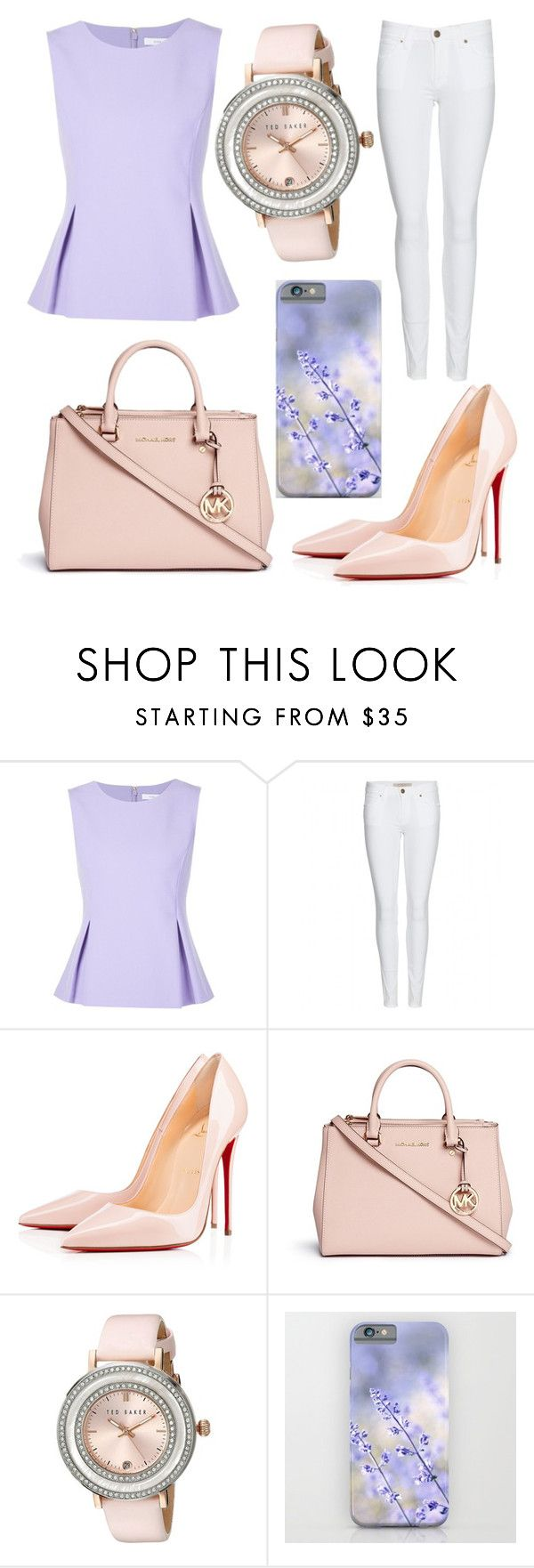 """""""#182"""" by glitterunicorns-are-awesome ❤ liked on Polyvore featuring Diane Von Furstenberg, Burberry, Christian Louboutin, Michael Kors and Ted Baker"""