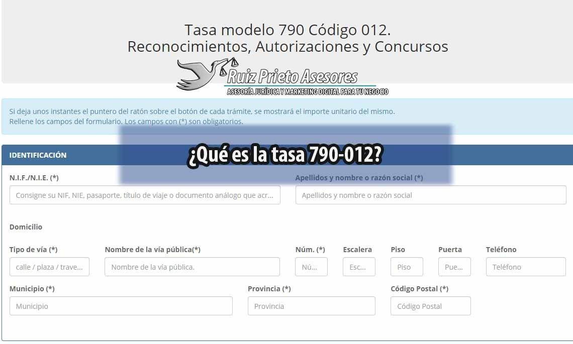 Tasa 790 012 El Impuesto De Expedicion De La Tarjeta De