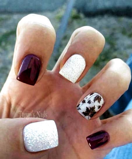 + 21 Winter Nails Acrylic Short Square 6 – #Acrylic #Nails #short #square #Winter