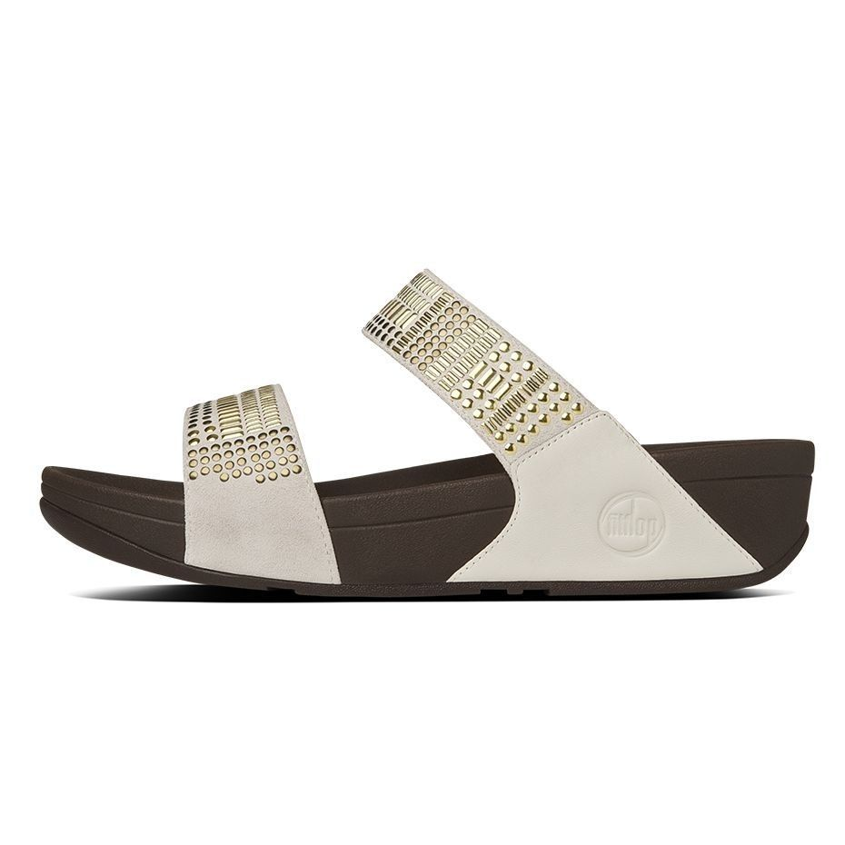 d3a74027d6c9 FitFlop AZTEK CHADA™ SLIDE WHITE WOMEN - Fitflop  fitflop  women  shoes   fashion  lifestyle  summer  ss18  WomensFallShoes