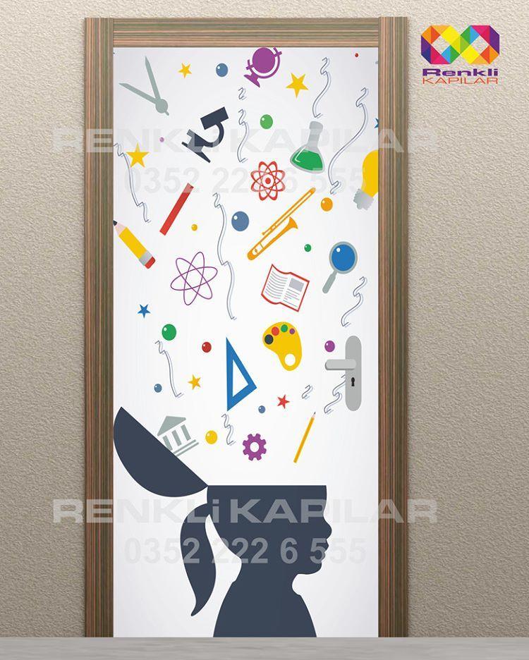 Classroom Door Decoration Sinif Kapi Kaplama Renkli Kapilar Kapi