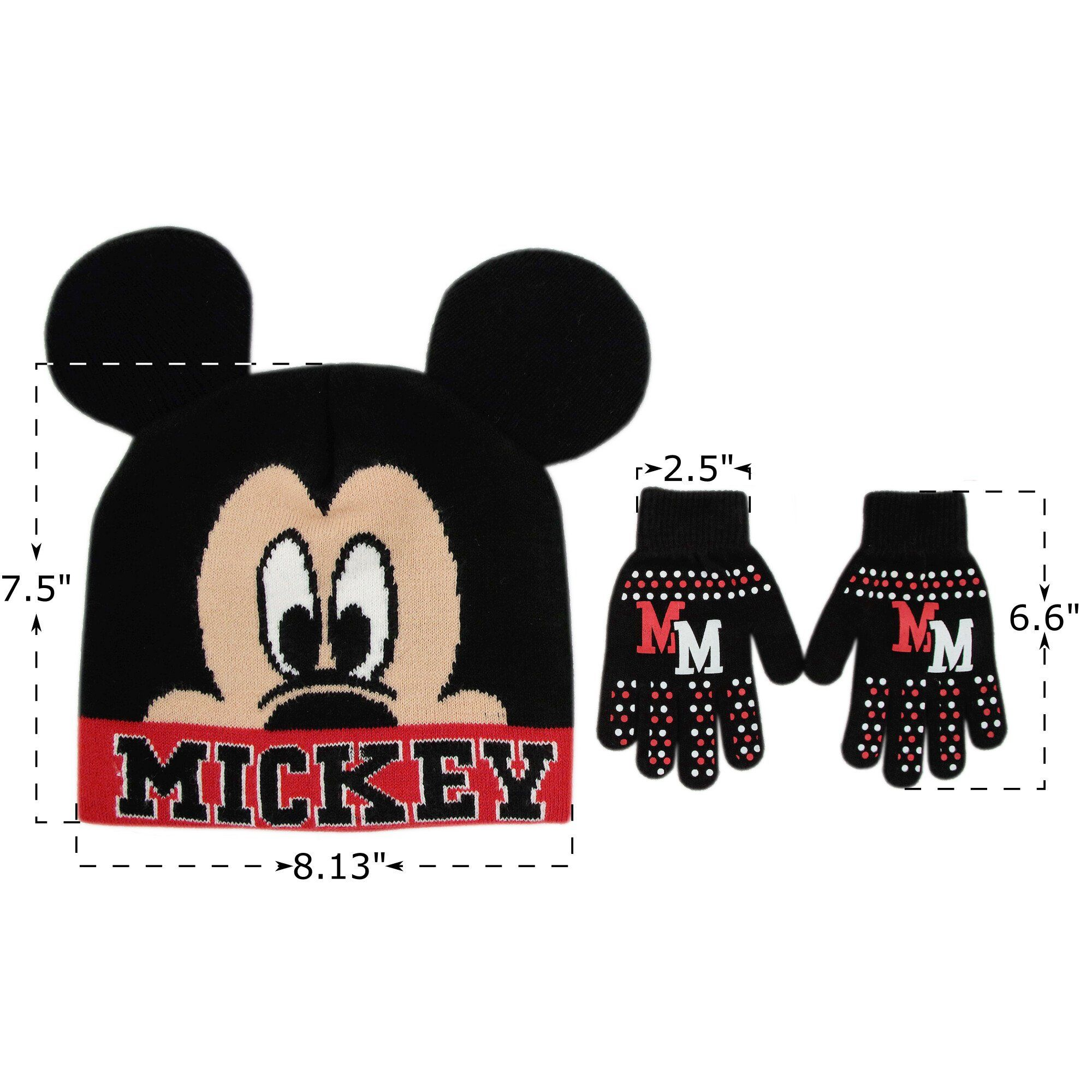 f11b1fa91ec Disney Little Boys Mickey Mouse Winter Beanie Hat and Gloves Set black One  Size    Click image for more details. (This is an affiliate link)