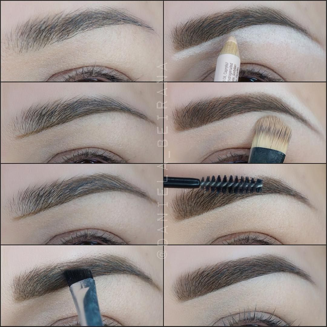 how to draw eyebrows with pencil step by step