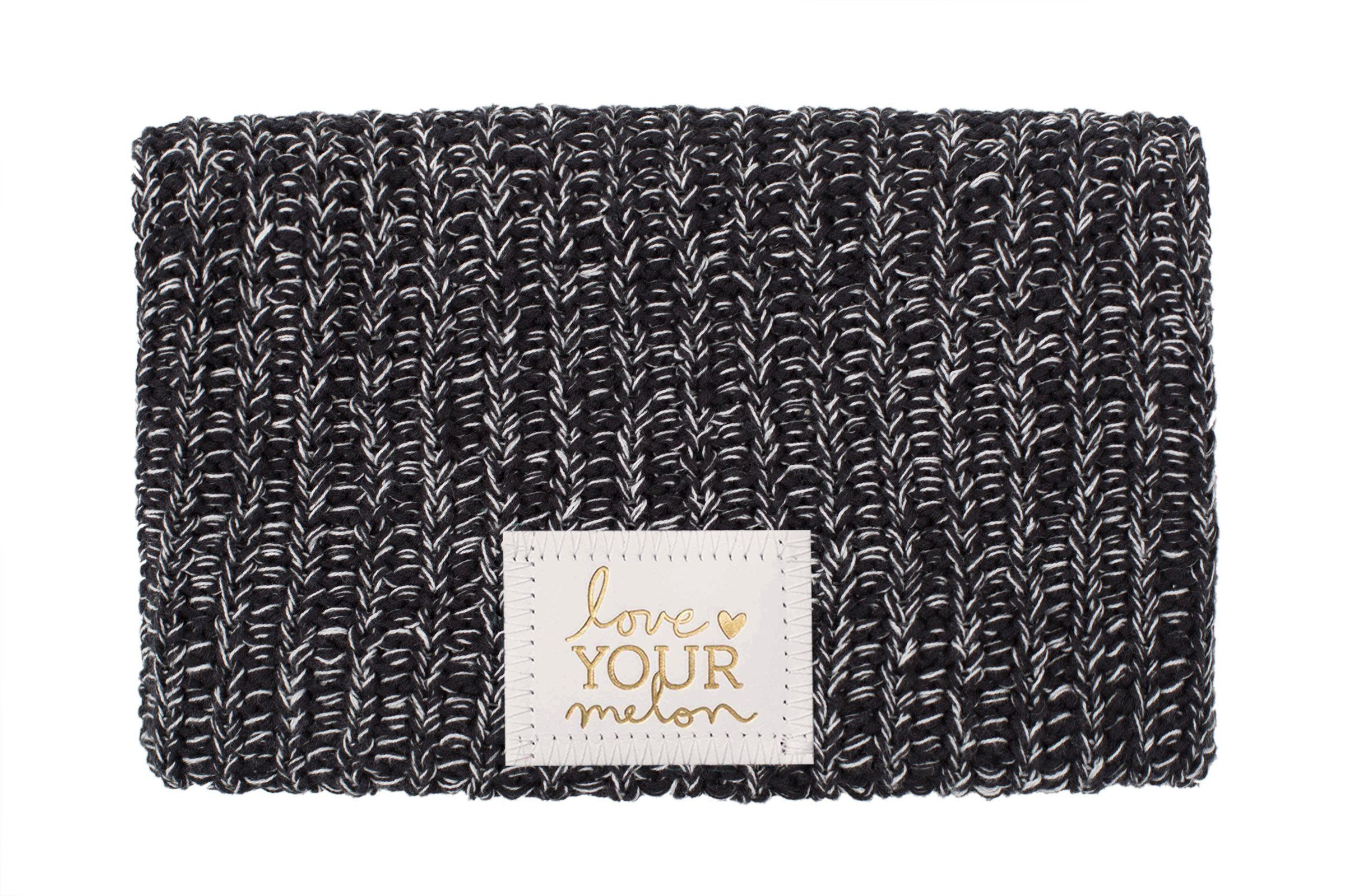 874ca345862 Black and White Speckled Beanie (White Gold Foil Patch)