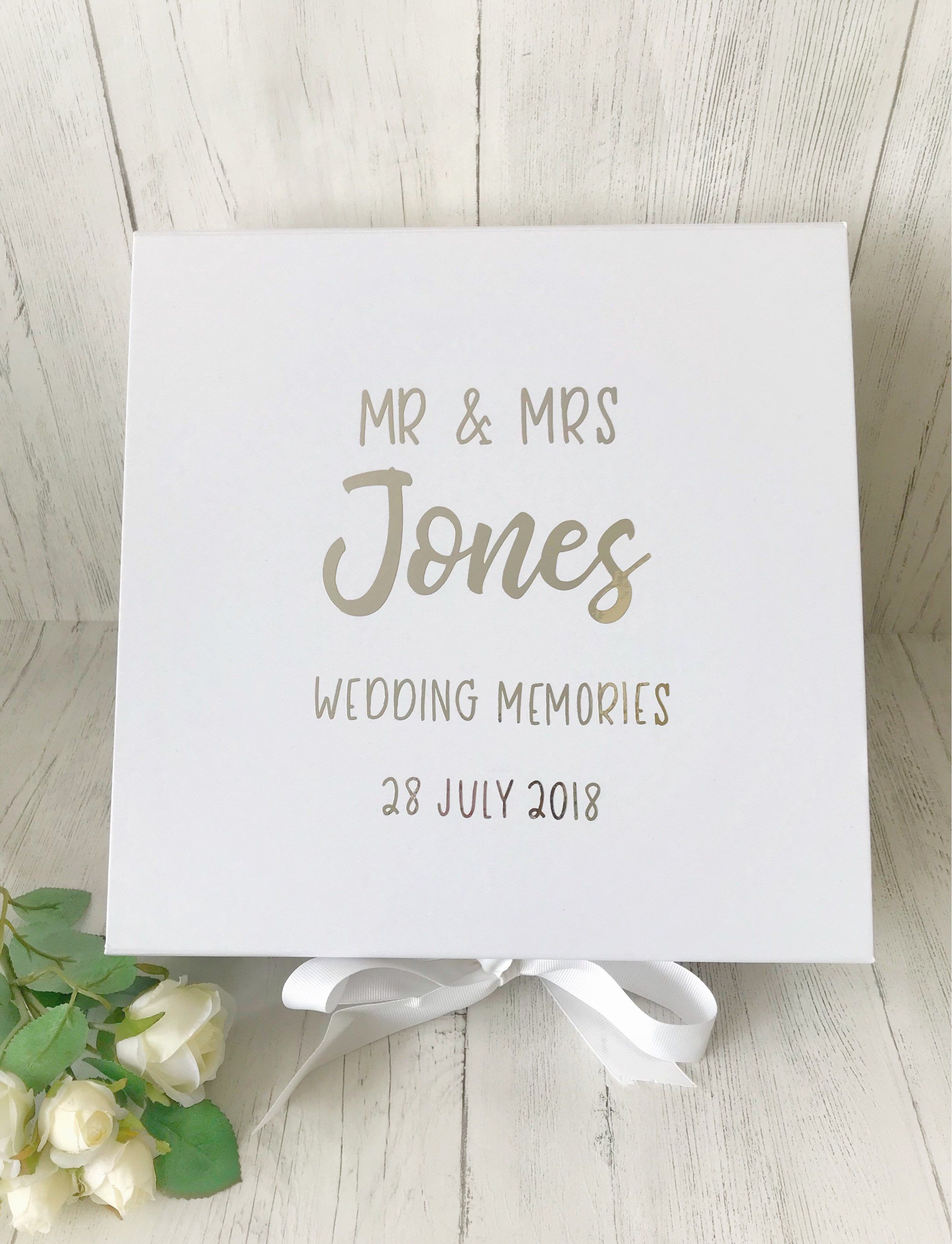 Wedding Memory Box Personalised Wedding Keepsake Box Personalised