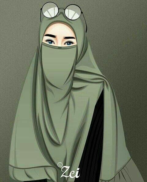 W A L L P A P E R Hijab Girl Hijab Cartoon Islamic Girl Girl Cartoon