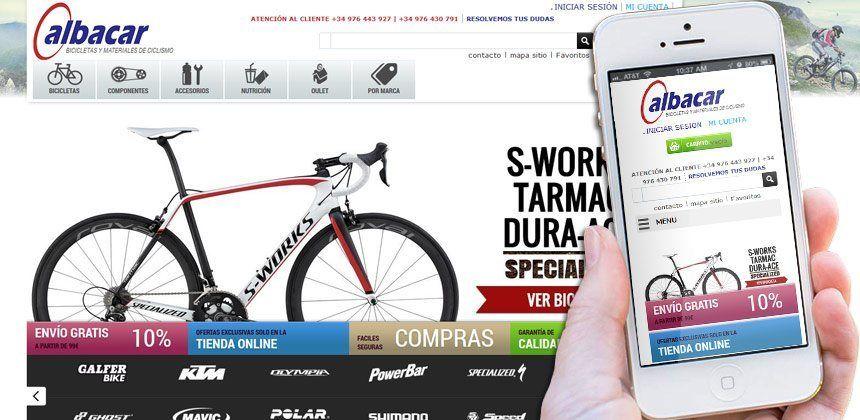 Diseno De Tienda Online Albabike Zaragoza Disenos De Unas