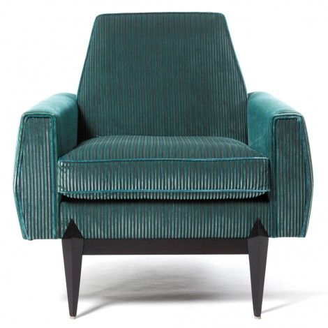 Urano armchair in heavy teal cord