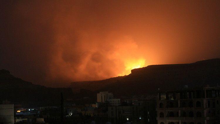 #موسوعة_اليمن_الإخبارية l RT تكشف سبب إضاءة ليل صنعاء وتؤكد وصول قوات هادي مشارف المخا