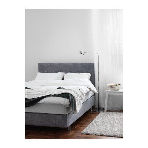 arviksand boxspring ikea boxspringbett grau. Black Bedroom Furniture Sets. Home Design Ideas