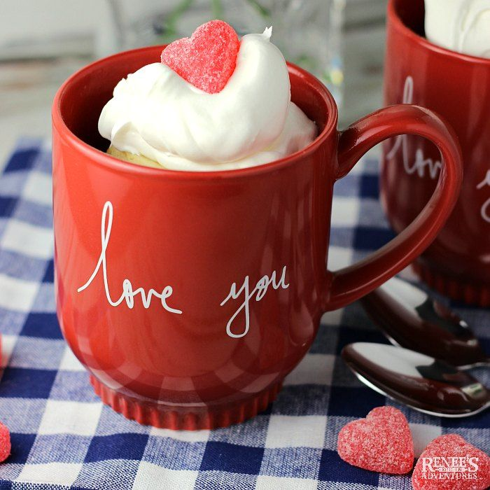 Vanilla Cake in a Mug (for Two) | Renee's Kitchen ...