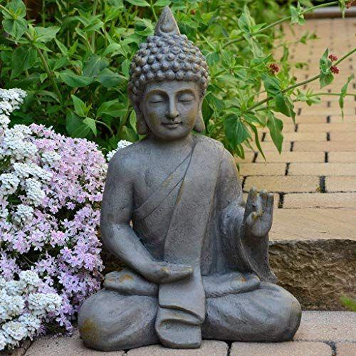 Intrendu Bouddha Statuette Chinois 54cm Decoration Zen Pour