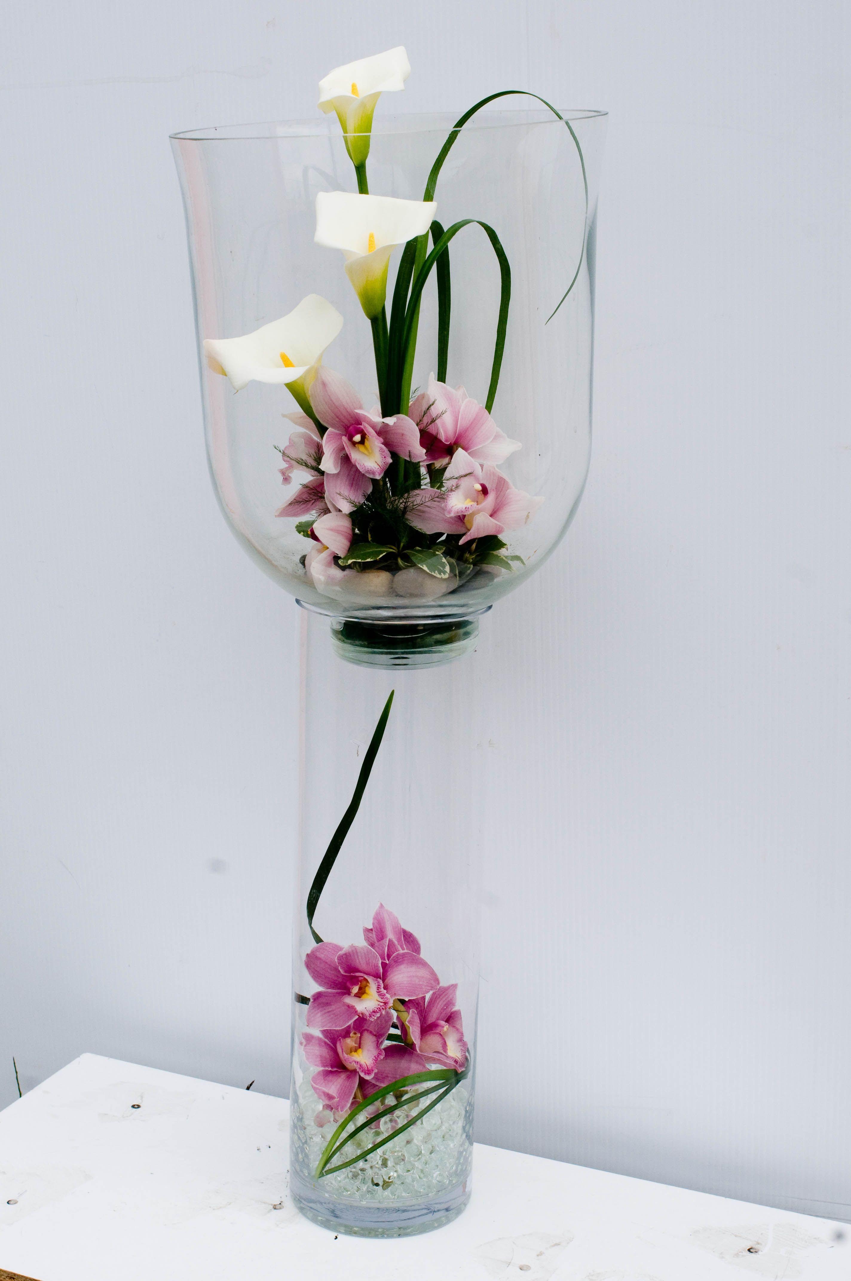 Wine Gl Vase Flower Arrangement