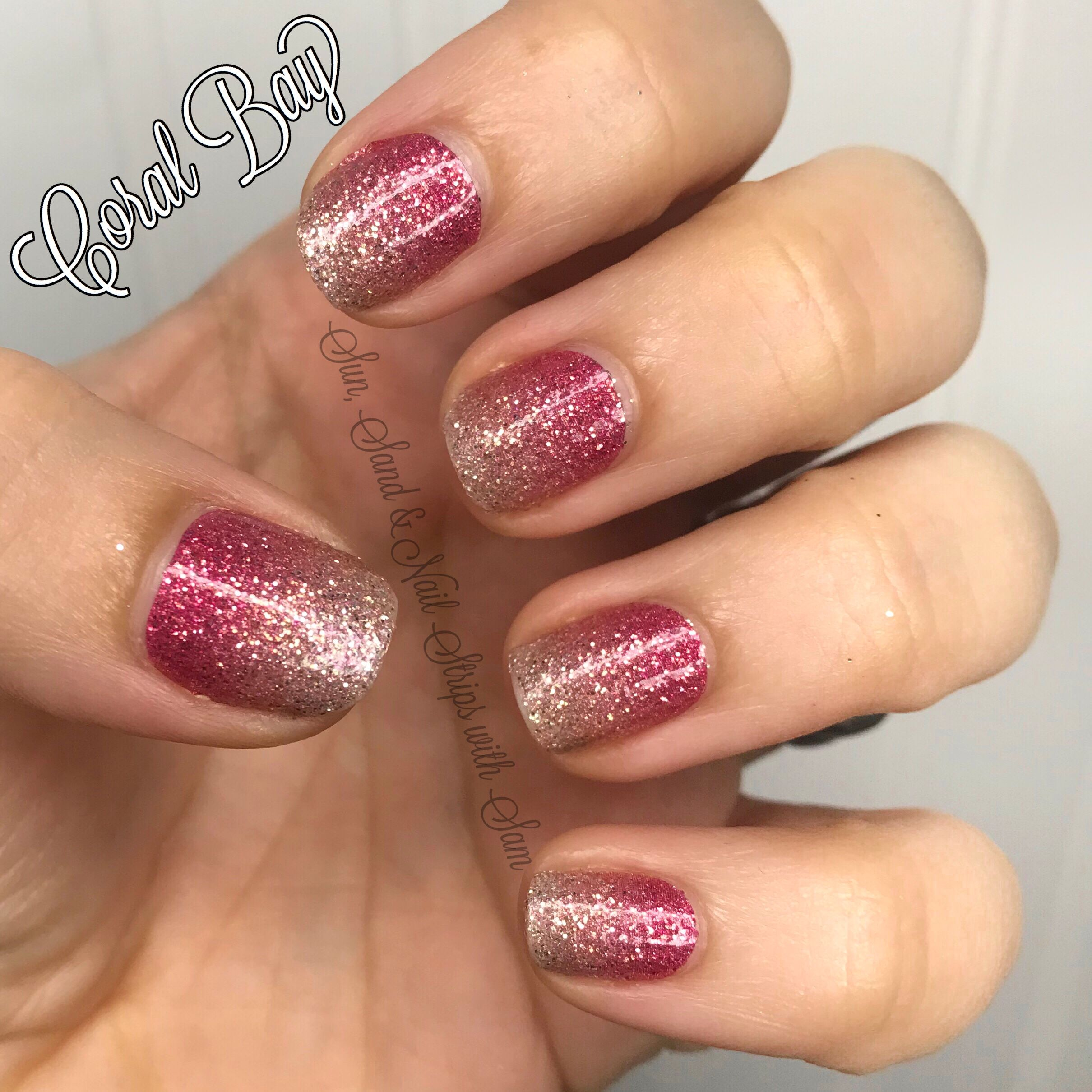 Coral Bay By Color Street Pink And Gold Glitter Gradient Gorgeousness 100 Nail Polish Strips Easy And Q Nagel Farbenfrohe Nageldesigns Winter Nagel Farben