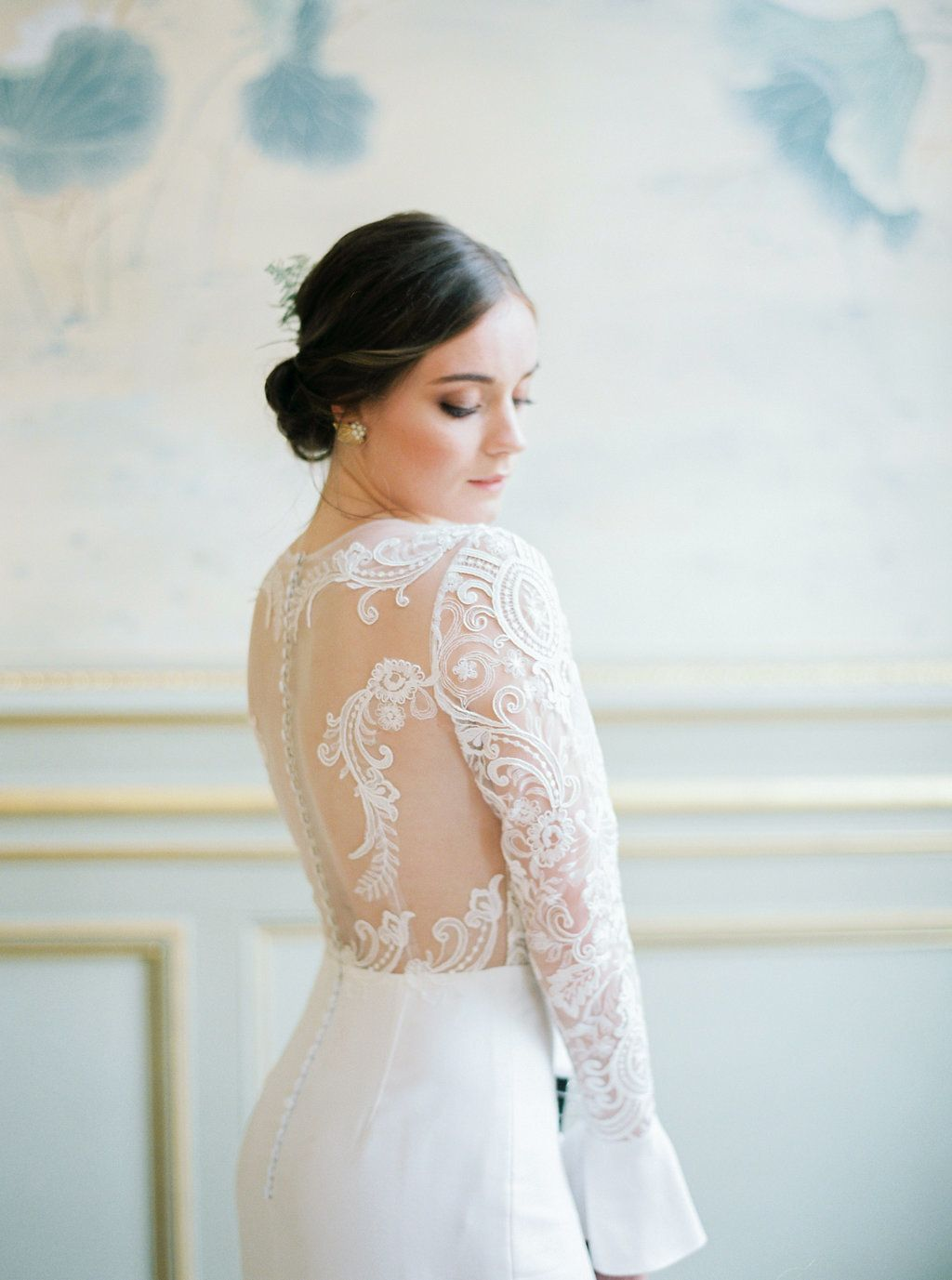 Long sleeve wedding dress topper  Tropical Chic Meets Parisian Elegance And Weure Obsessed