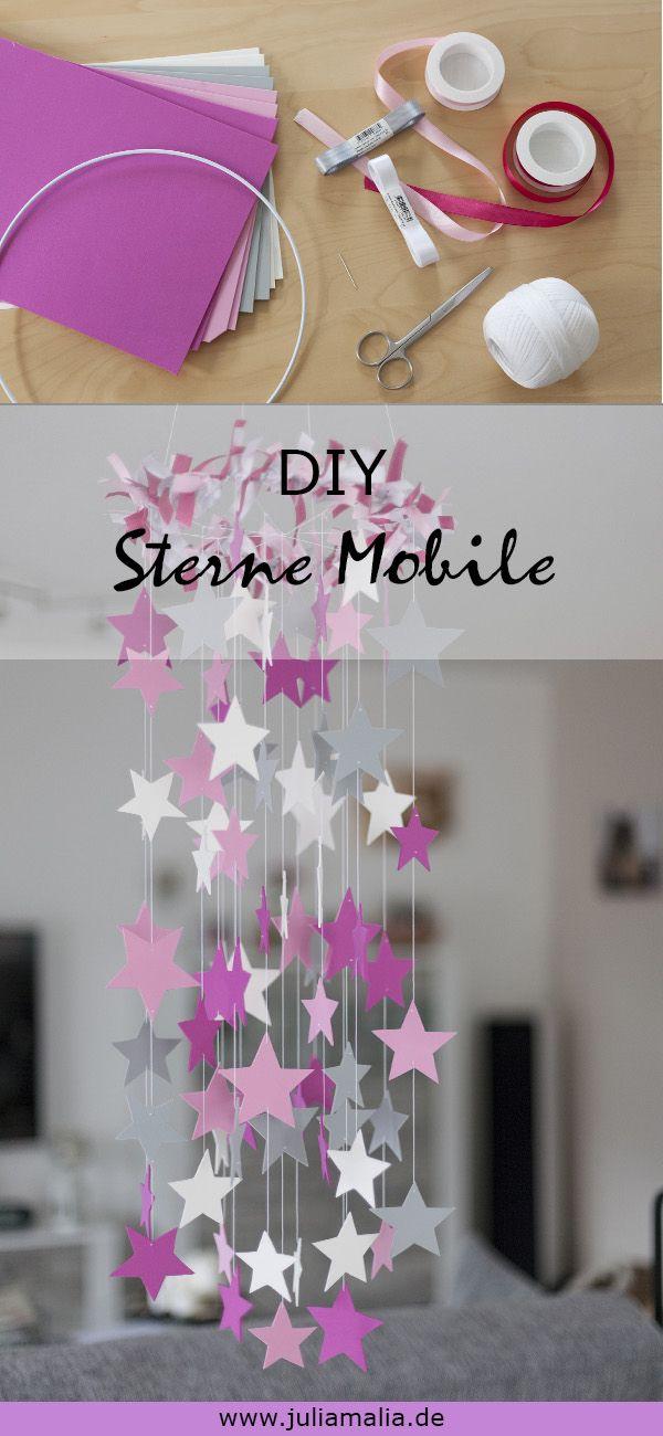 DIY - wunderschönes Mobile mit Sternen basteln | juliamalia