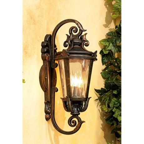 Casa Marseille 21 1 2 High Bronze Outdoor Wall Light 62374