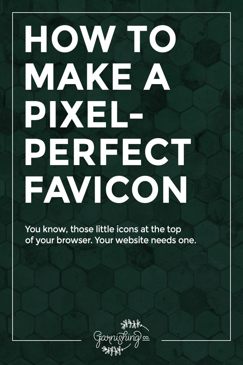 Every website needs a favicon, and there are a few different ways you can make one for your blog or website. Here's how to make a favicon.
