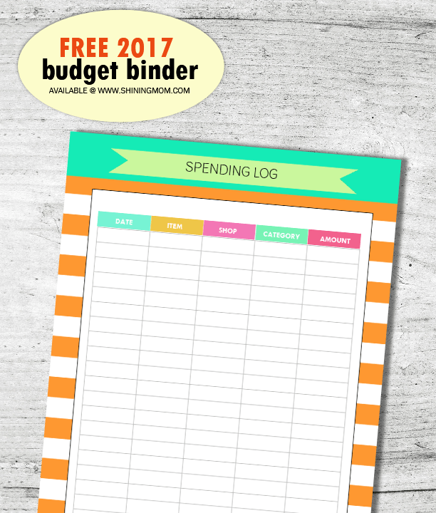 SAVE And INVEST: 2017 Free Budget Binder!