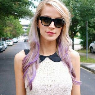 Leighannsays lavender hair.