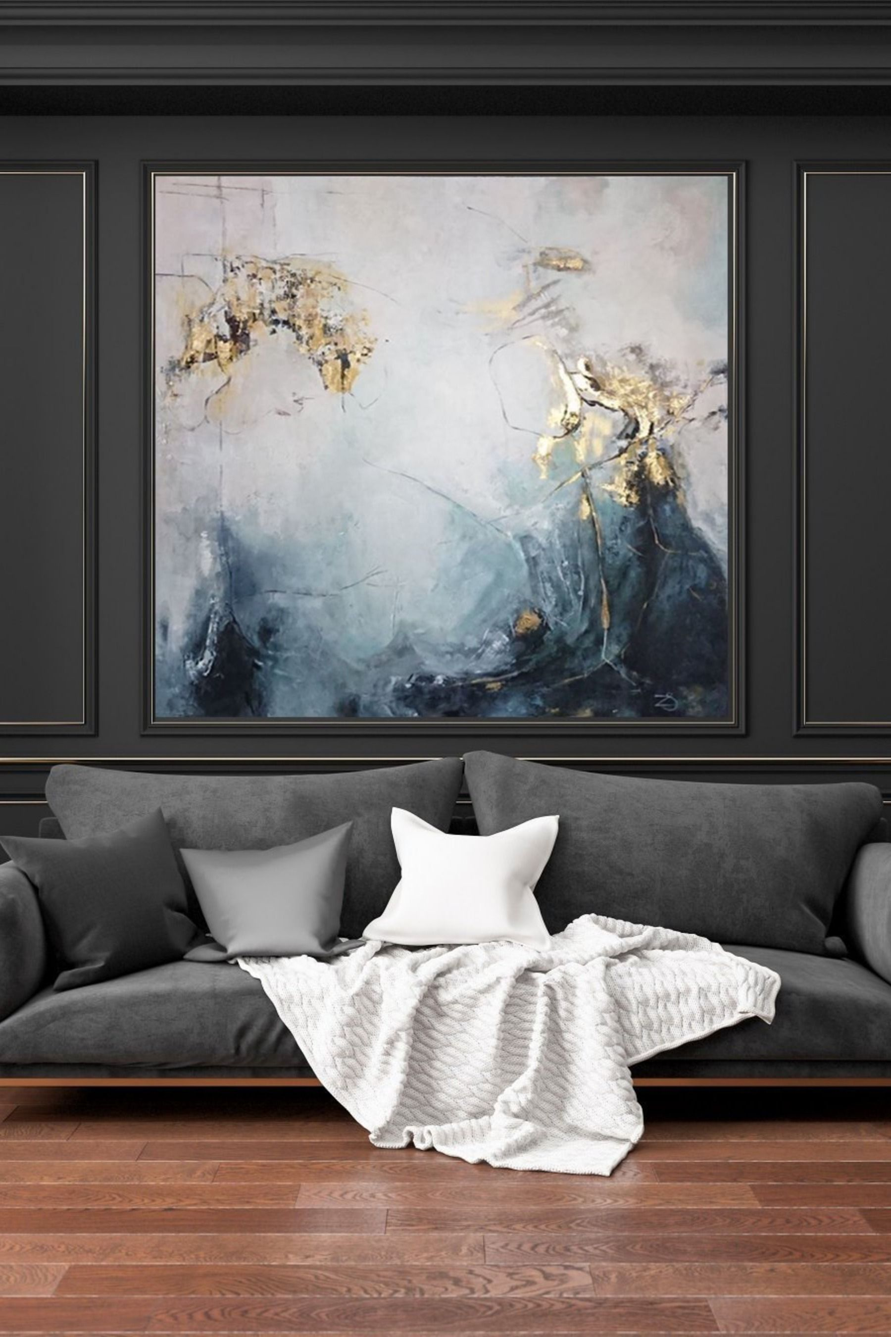 Large Oil Painting Original Canvas Gold Leaf Painting Wall Art Canvas Abstract Contemporary Art Painting Wall Painting For Living Room Contemporary Art Painting Contemporary Art Canvas Large Canvas Painting