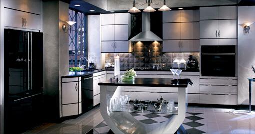 black and white art deco kitchen sleek hollywood glam ph interiors   fav idea   hollywood glam      rh   pinterest co uk