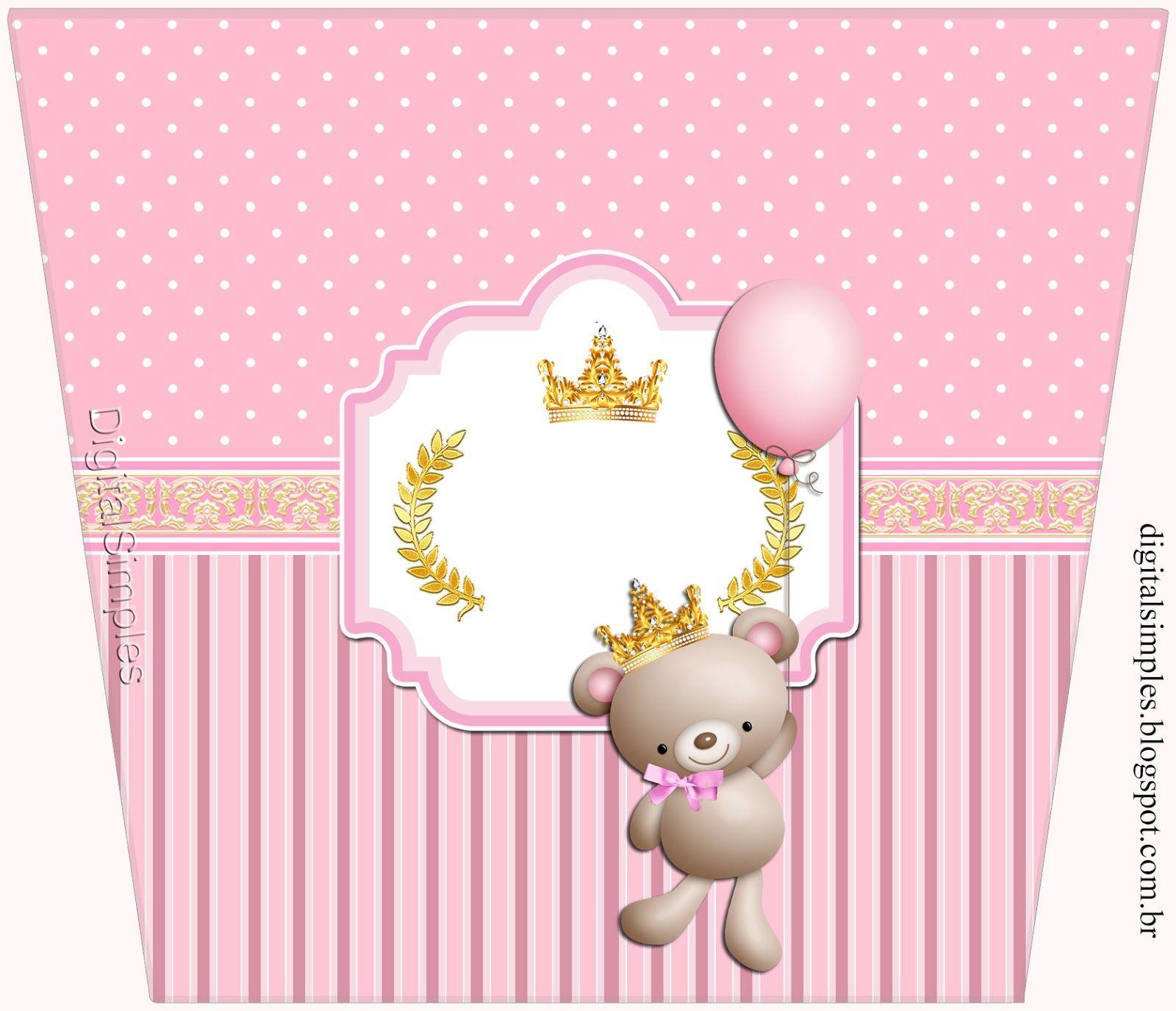 Princesa Osita De Peluche Etiquetas Para Candy Bar Para Imprimir