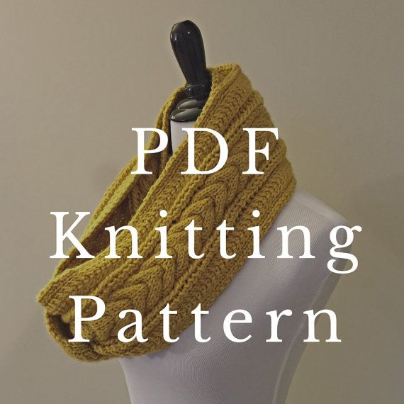 Knitting Pattern Infinity Scarf, Cable Scarf Pattern