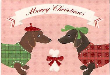 Dachshund Glittery Christmas Cards Box Of 12 Dachshund Christmas Dachshund Christmas Cards Christmas Dog