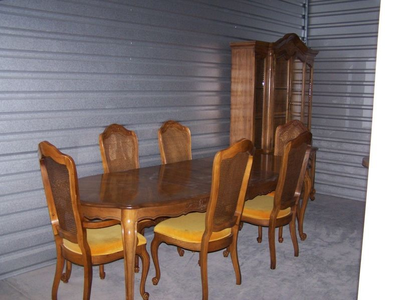 Hibriten Pecan Finish Dining Set Eight Foot Table With Six Chairs