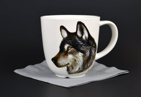 Custom Pet Mugs, Personalized Painted Cups, Pet Portraits, Painted From Your Photo, Customized Mugs, Hand Painted, Customized Doggie Mugs #custommugs