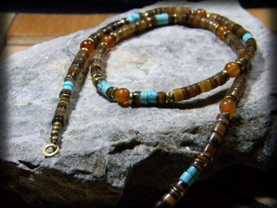 Natural Turquoise Necklace Southwestern Native American Jewelry