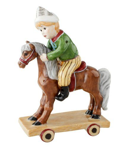 Villeroy & Boch Christmas Joy 5-Inch Ornament, Boy On Rocking Horse
