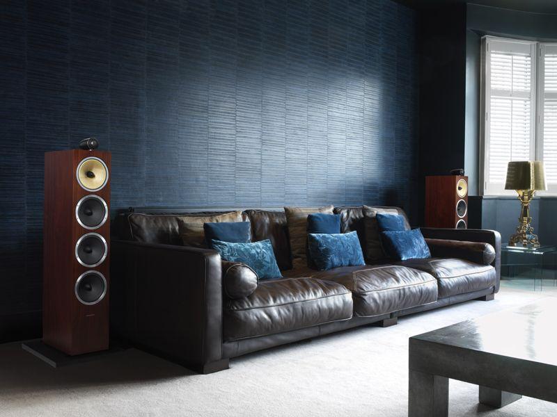 Bu0026W CM10 Floor Standing Speakers   Gloss Rosenut Livingroom